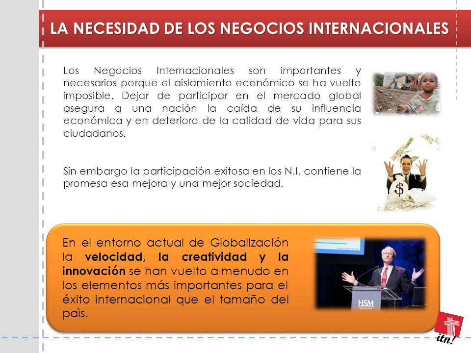 LA NECESIDAD DE LOS NEGOCIOS INTERNACIONALES