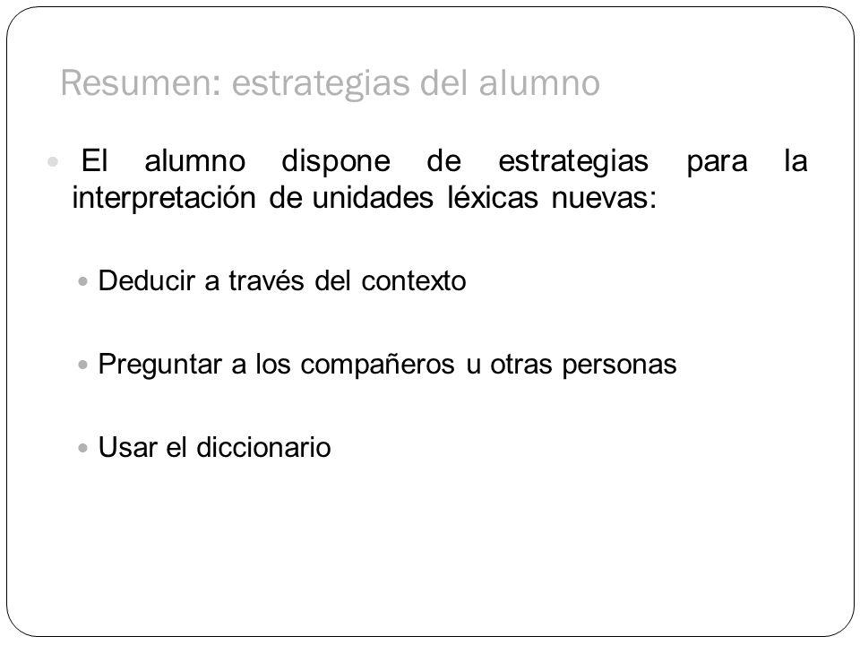 Resumen: estrategias del alumno