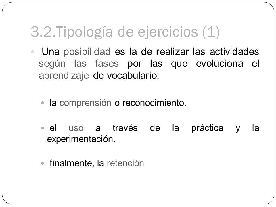3.2.Tipología de ejercicios (1)