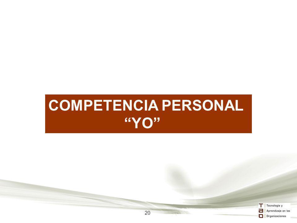 COMPETENCIA PERSONAL YO 20