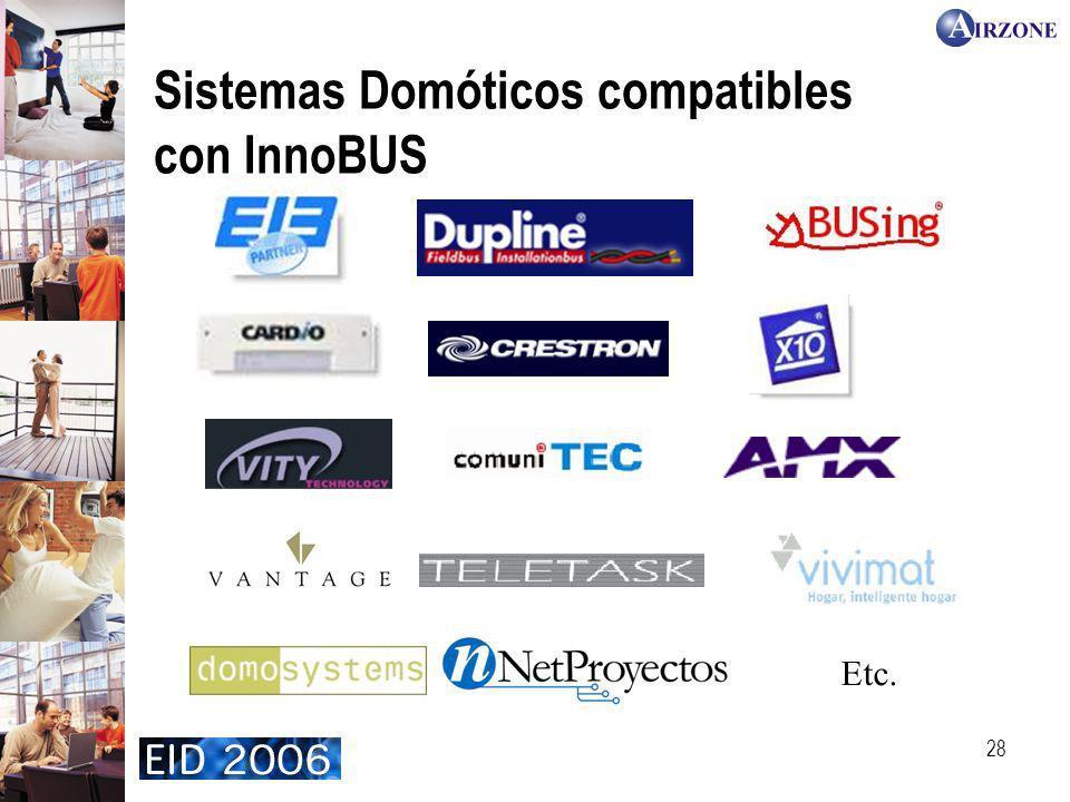 Sistemas Domóticos compatibles con InnoBUS