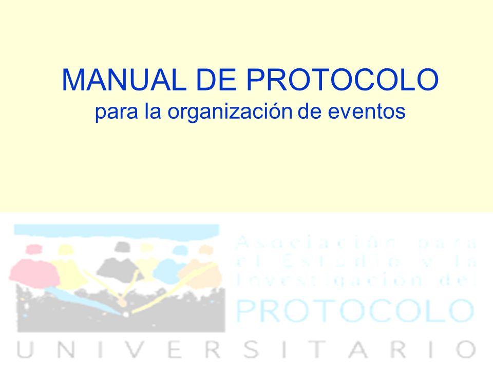 MANUAL DE PROTOCOLO para la organización de eventos