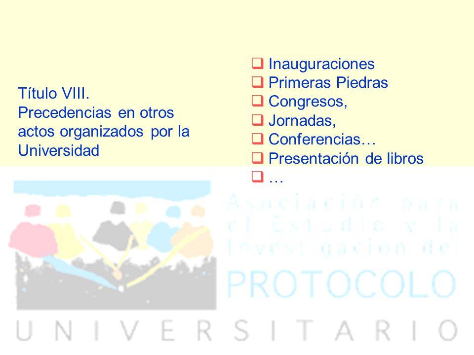 Inauguraciones Primeras Piedras. Congresos, Jornadas, Conferencias… Presentación de libros. …
