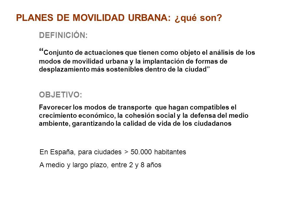 PLANES DE MOVILIDAD URBANA: ¿qué son DEFINICIÓN: