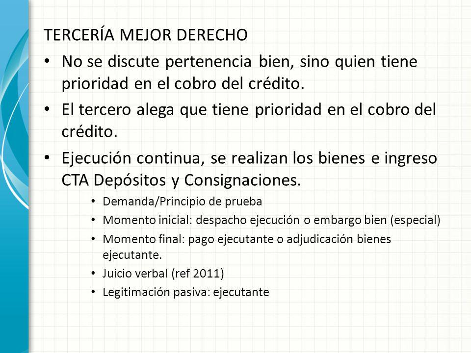 TERCERÍA MEJOR DERECHO