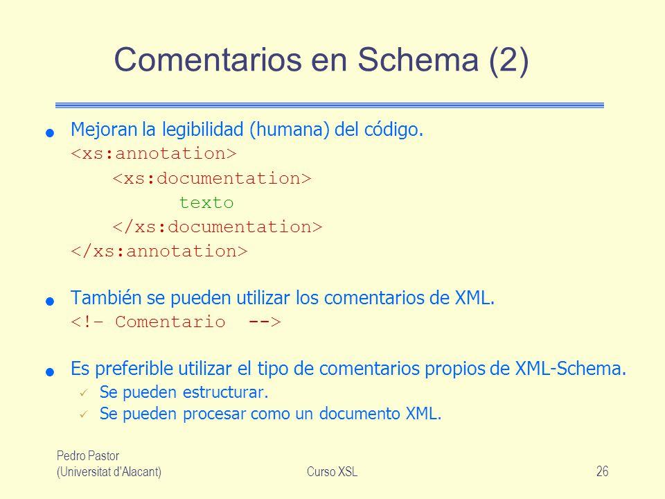 Comentarios en Schema (2)