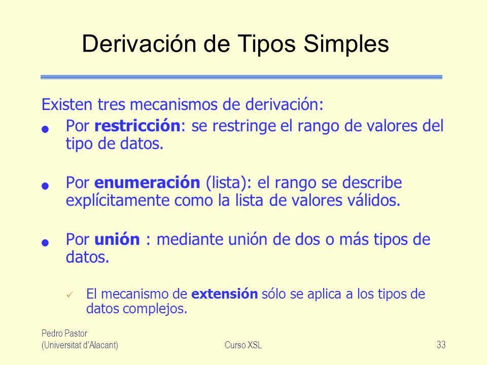 Derivación de Tipos Simples