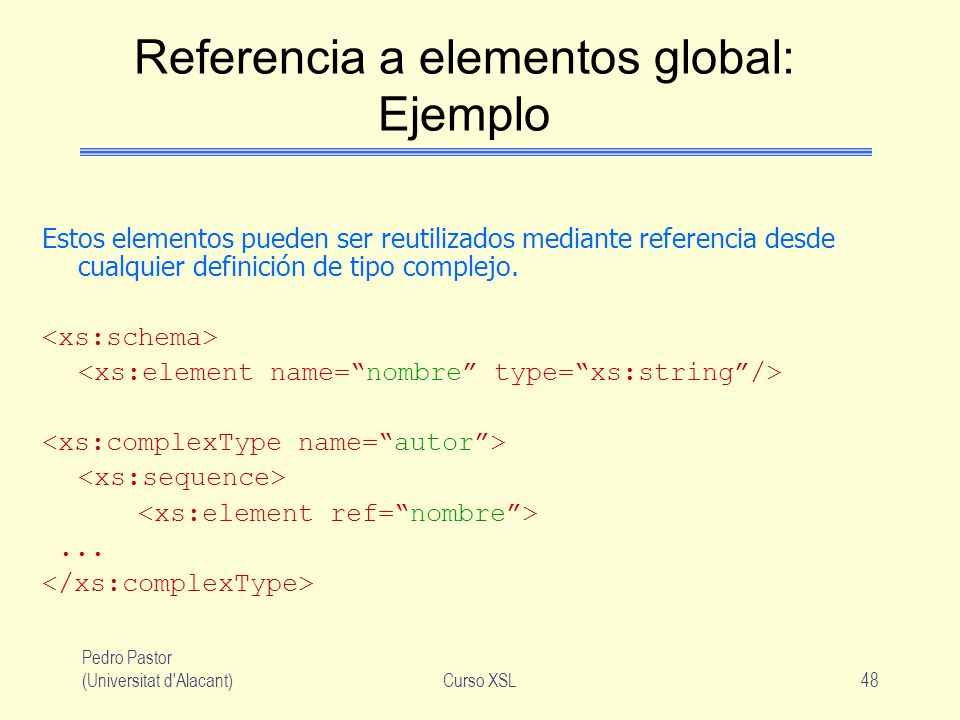 Referencia a elementos global: Ejemplo