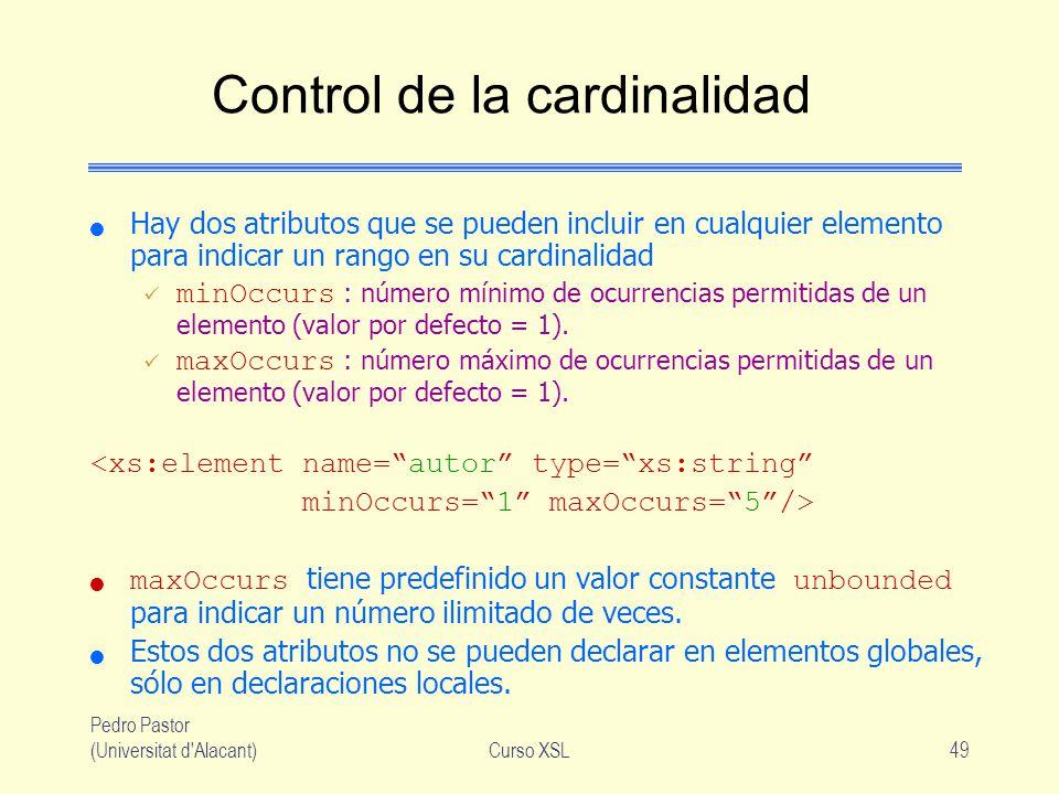 Control de la cardinalidad