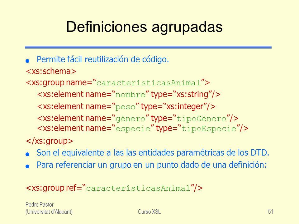 Definiciones agrupadas