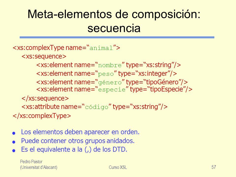 Meta-elementos de composición: secuencia