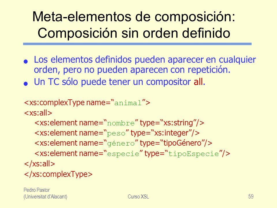 Meta-elementos de composición: Composición sin orden definido