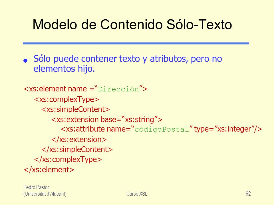 Modelo de Contenido Sólo-Texto