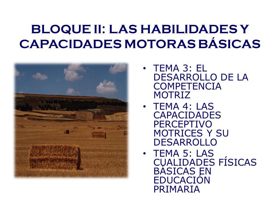BLOQUE II: LAS HABILIDADES Y CAPACIDADES MOTORAS BÁSICAS