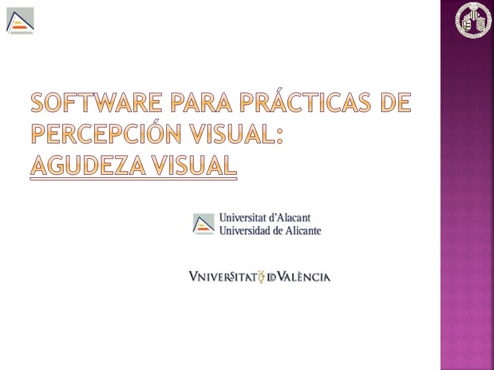 Software para prácticas de Percepción Visual: Agudeza Visual