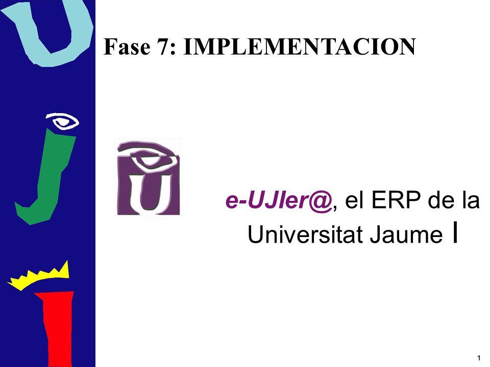 e-UJIer@, el ERP de la Universitat Jaume I