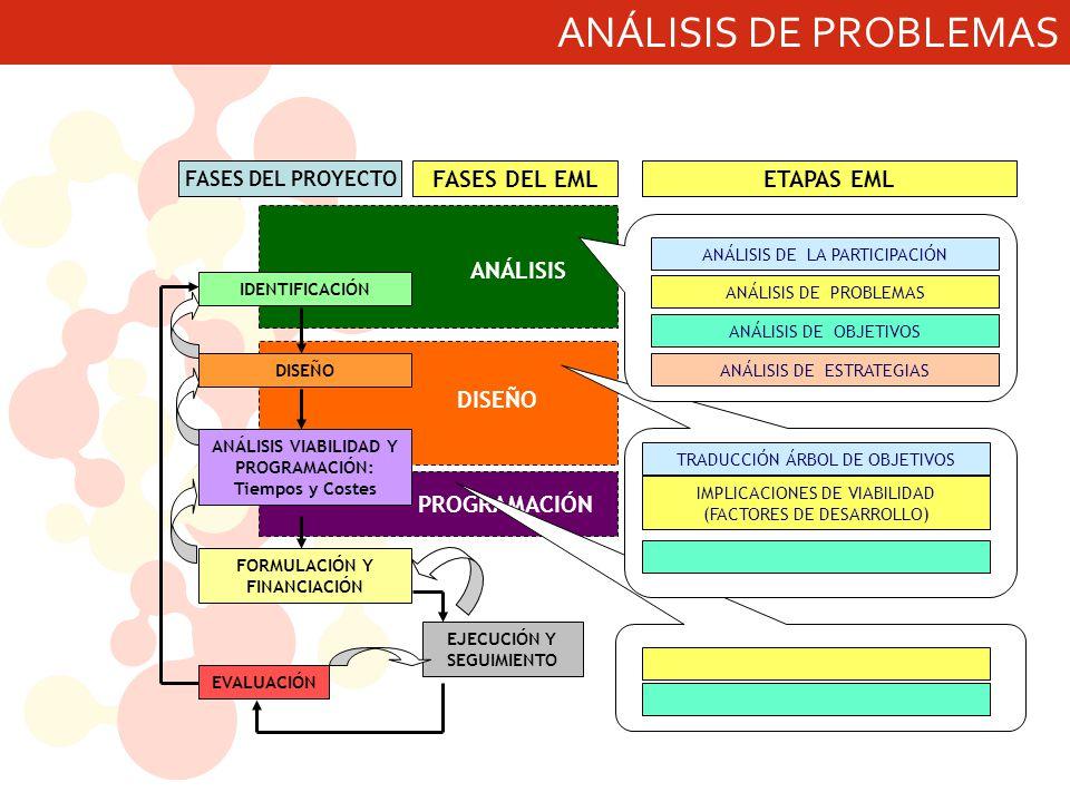 ANÁLISIS DE PROBLEMAS ANÁLISIS DISEÑO PROGRAMACIÓN FASES DEL EML