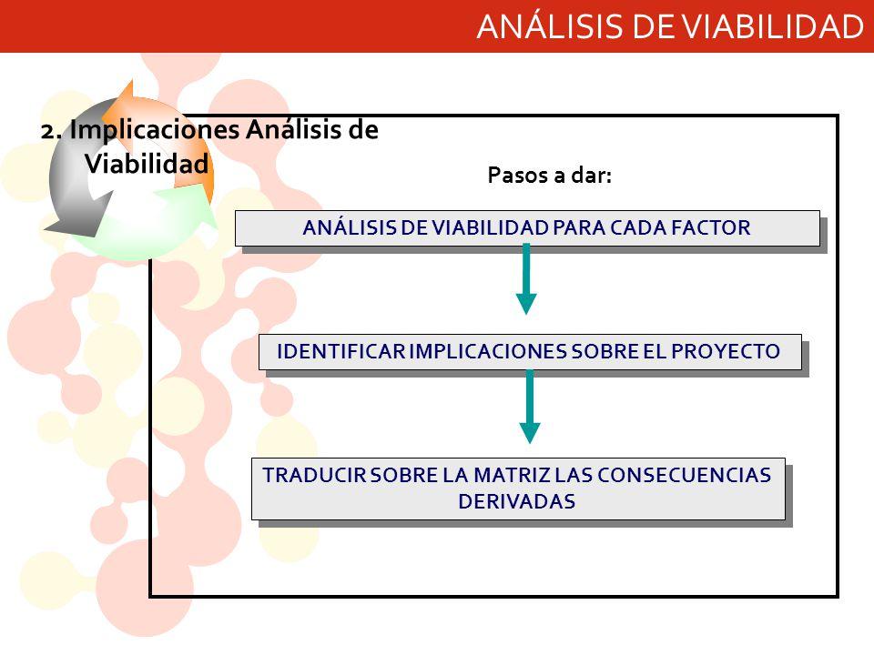 ANÁLISIS DE VIABILIDAD PARA CADA FACTOR