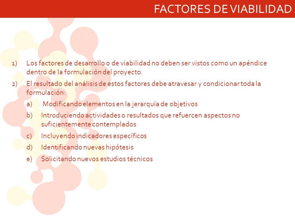 FACTORES DE VIABILIDAD