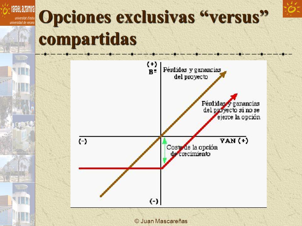 Opciones exclusivas versus compartidas