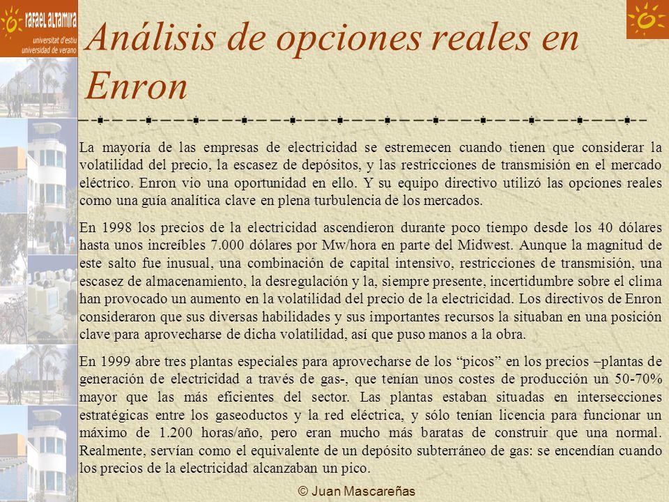 Análisis de opciones reales en Enron
