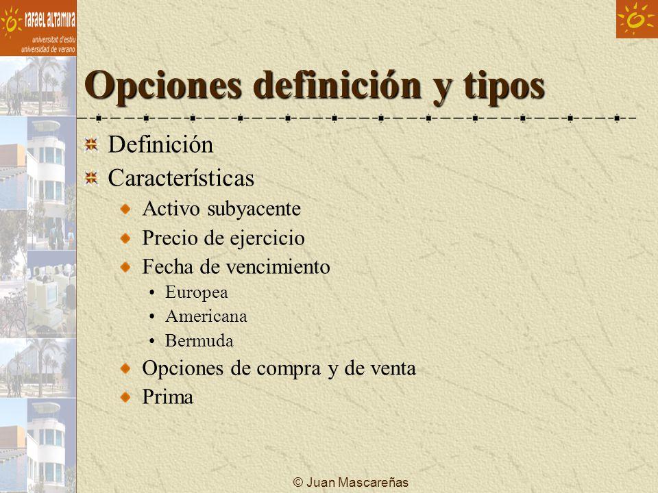 Opciones definición y tipos