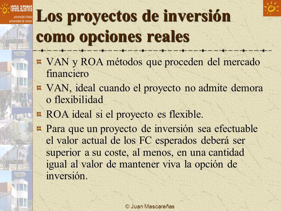 Los proyectos de inversión como opciones reales