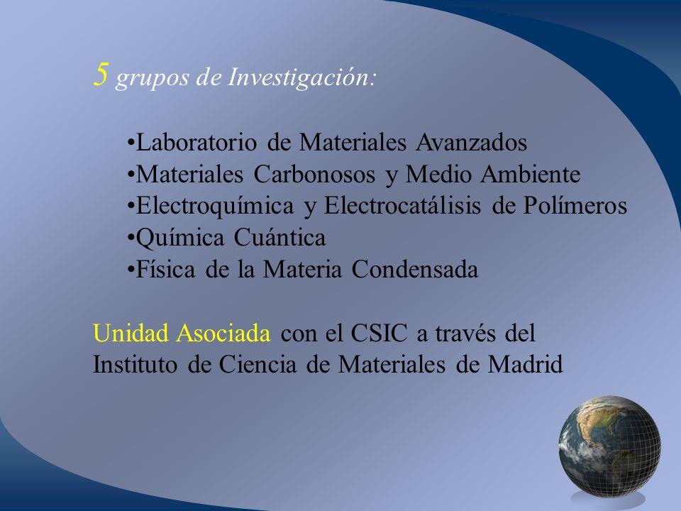 5 grupos de Investigación: