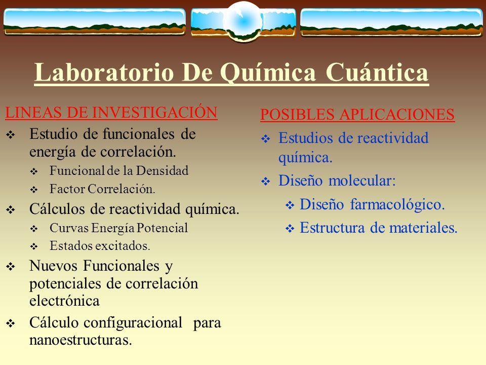 Laboratorio De Química Cuántica