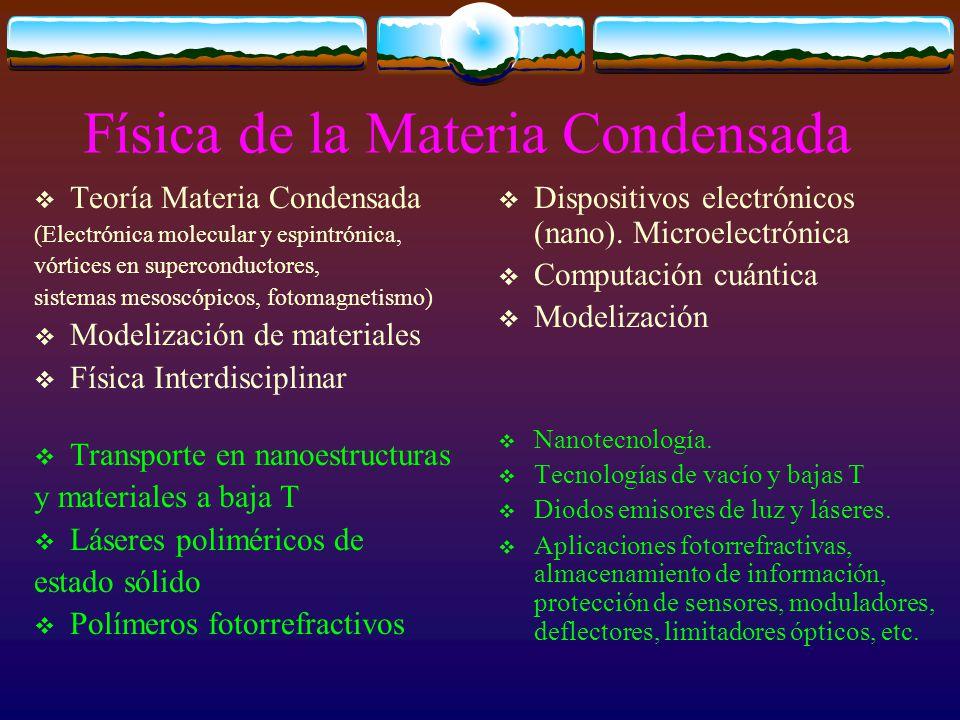 Física de la Materia Condensada