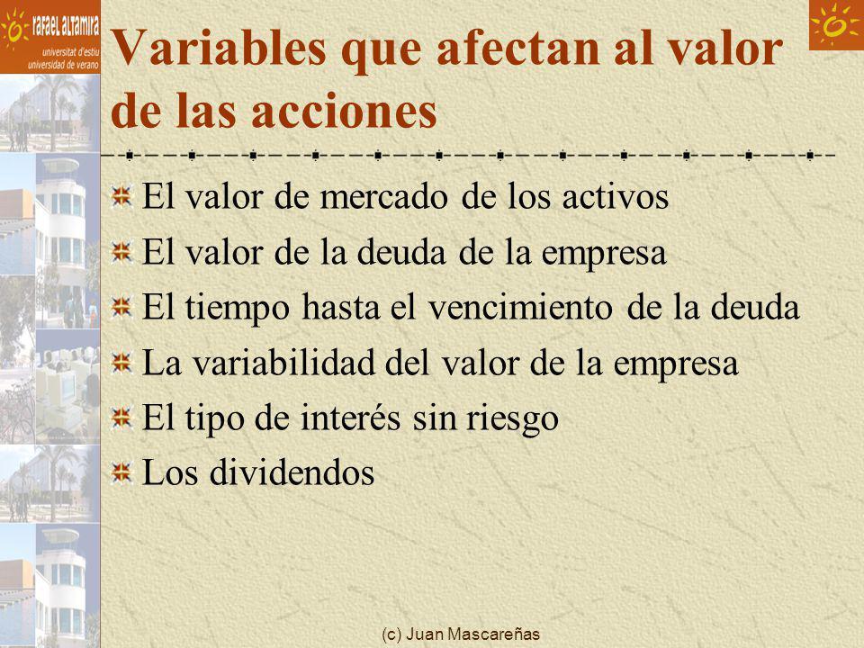 Variables que afectan al valor de las acciones