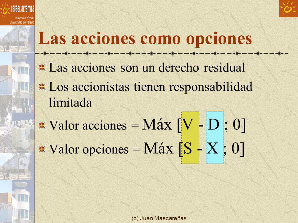 Las acciones como opciones
