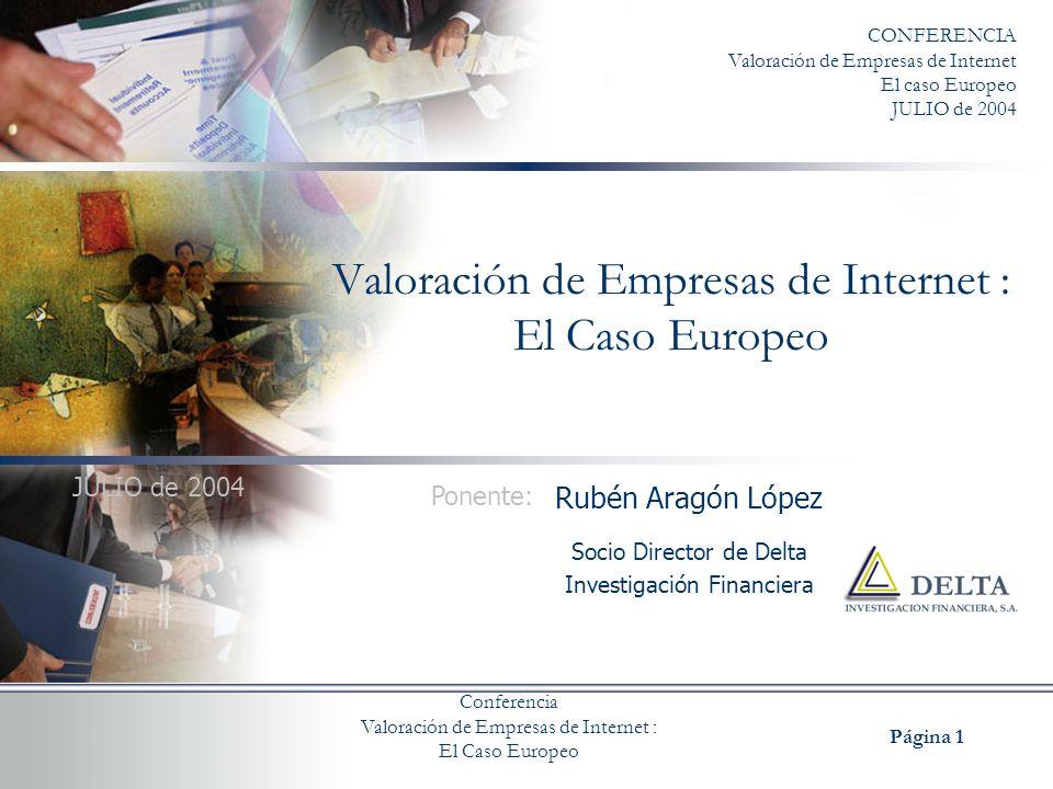 Valoración de Empresas de Internet : El Caso Europeo
