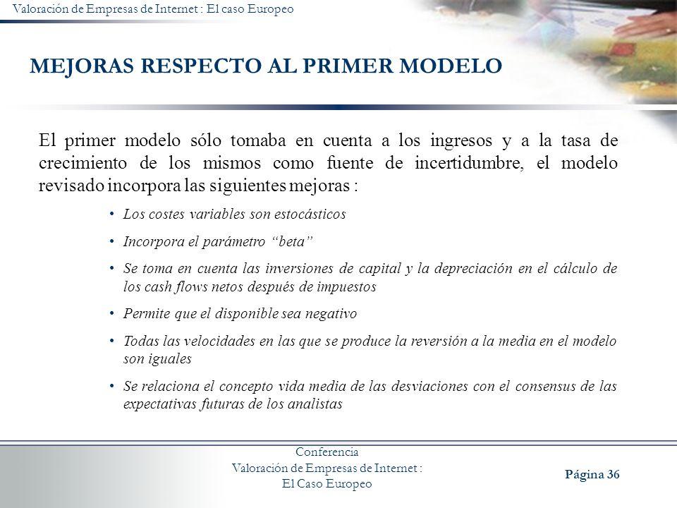 MEJORAS RESPECTO AL PRIMER MODELO