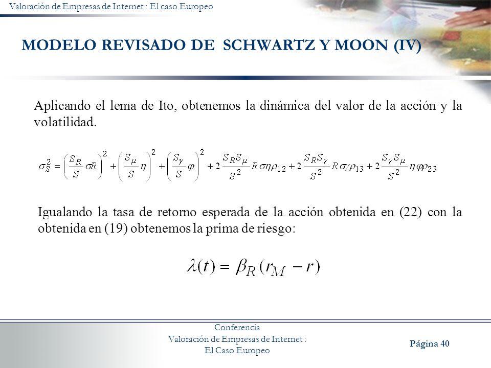 MODELO REVISADO DE SCHWARTZ Y MOON (IV)