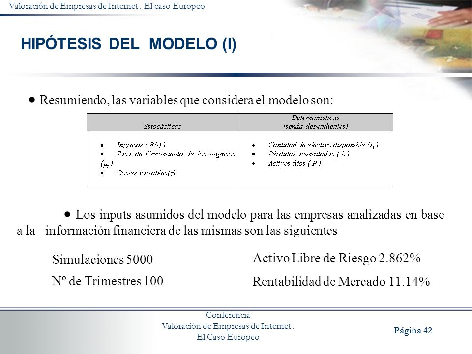 HIPÓTESIS DEL MODELO (I)