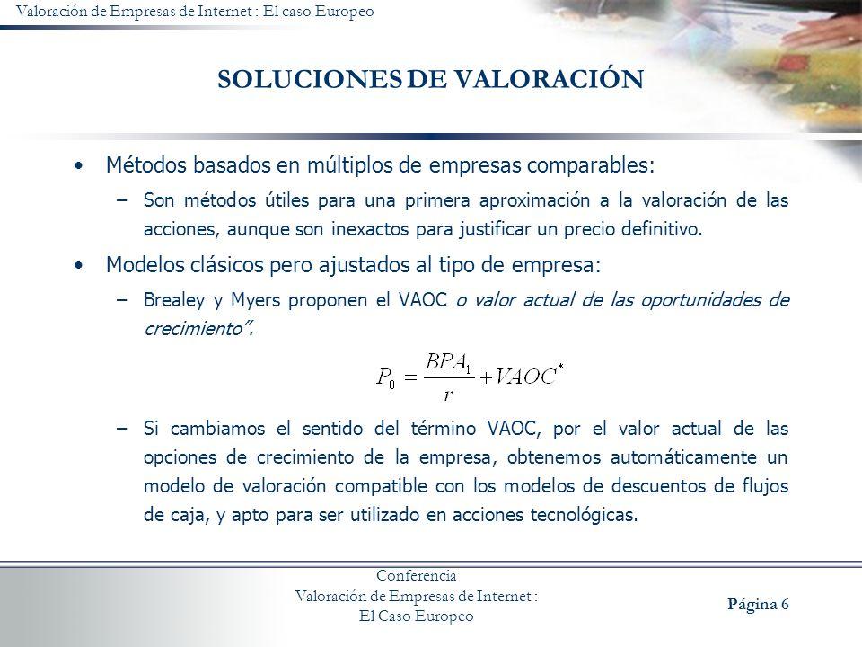 SOLUCIONES DE VALORACIÓN