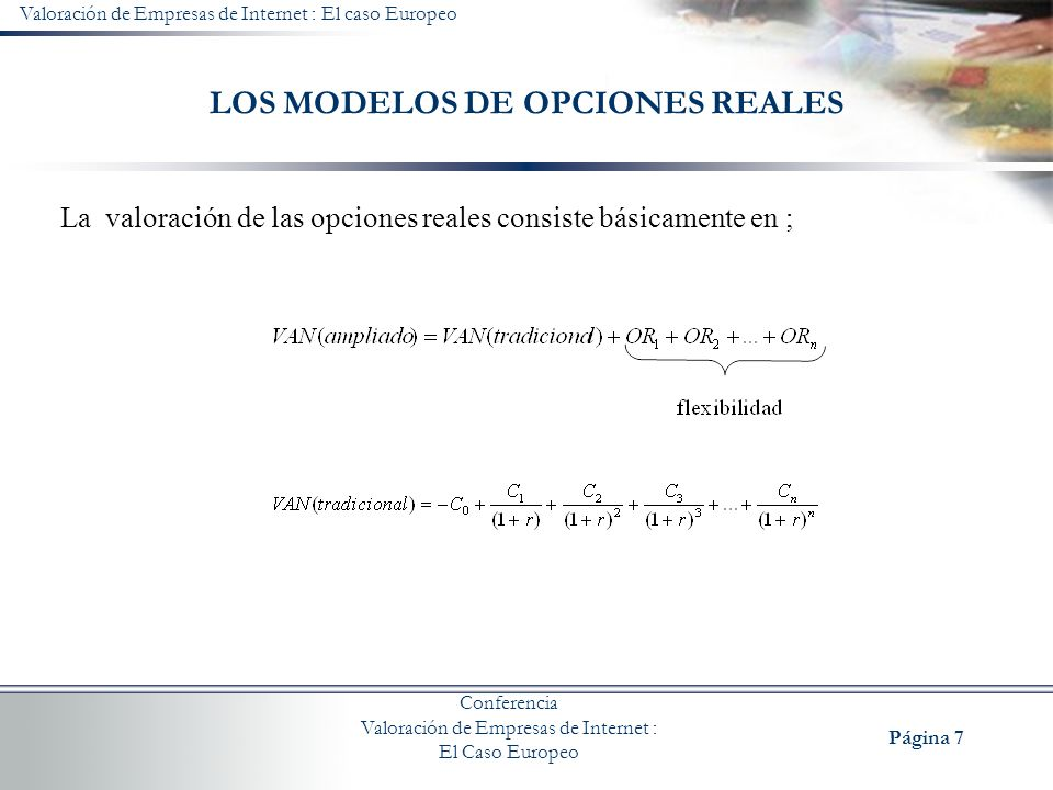 LOS MODELOS DE OPCIONES REALES