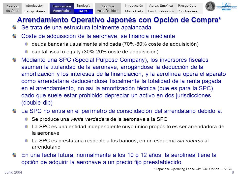 Arrendamiento Operativo Japonés con Opción de Compra*