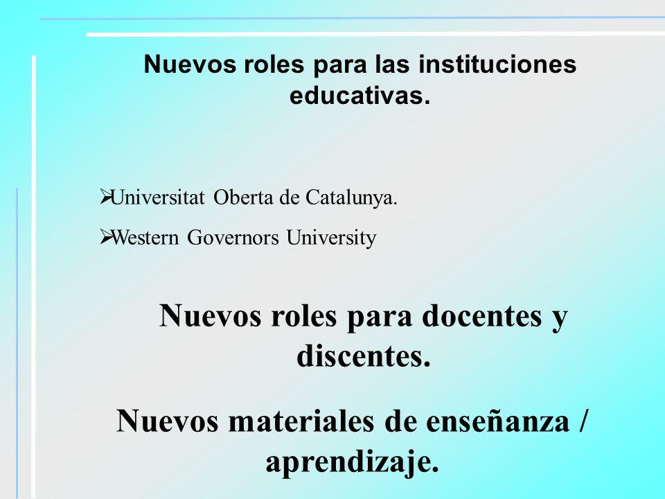Nuevos roles para docentes y discentes.
