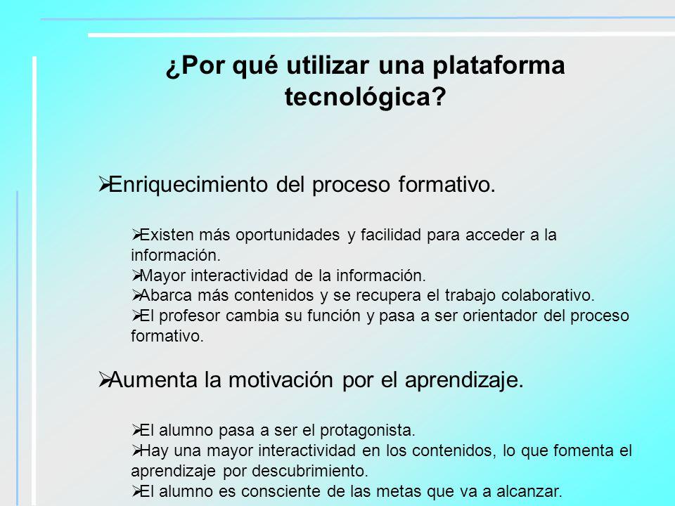 ¿Por qué utilizar una plataforma tecnológica