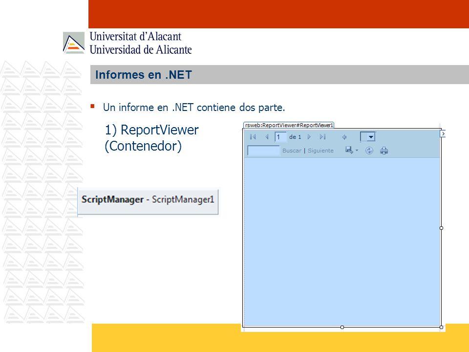 1) ReportViewer (Contenedor) Informes en .NET