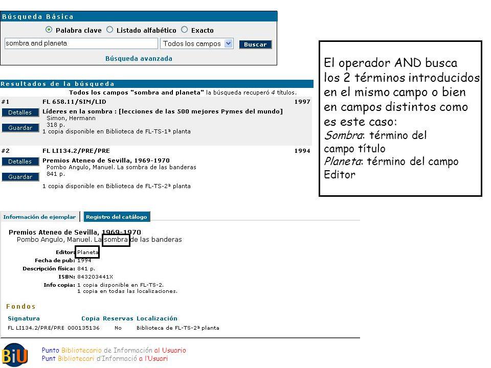 El operador AND busca los 2 términos introducidos en el mismo campo o bien en campos distintos como es este caso: