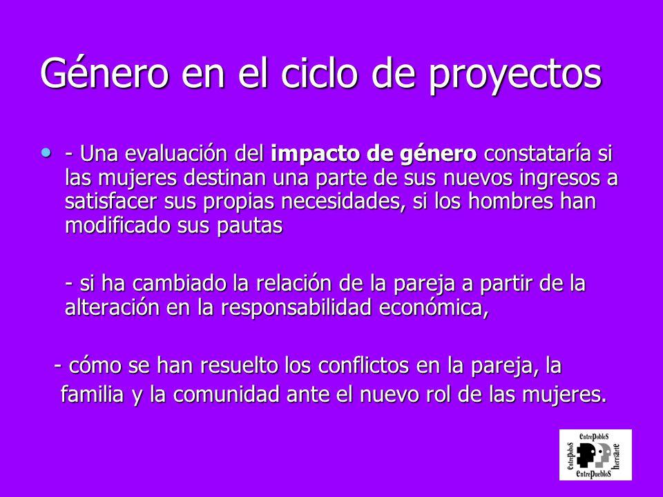 Género en el ciclo de proyectos