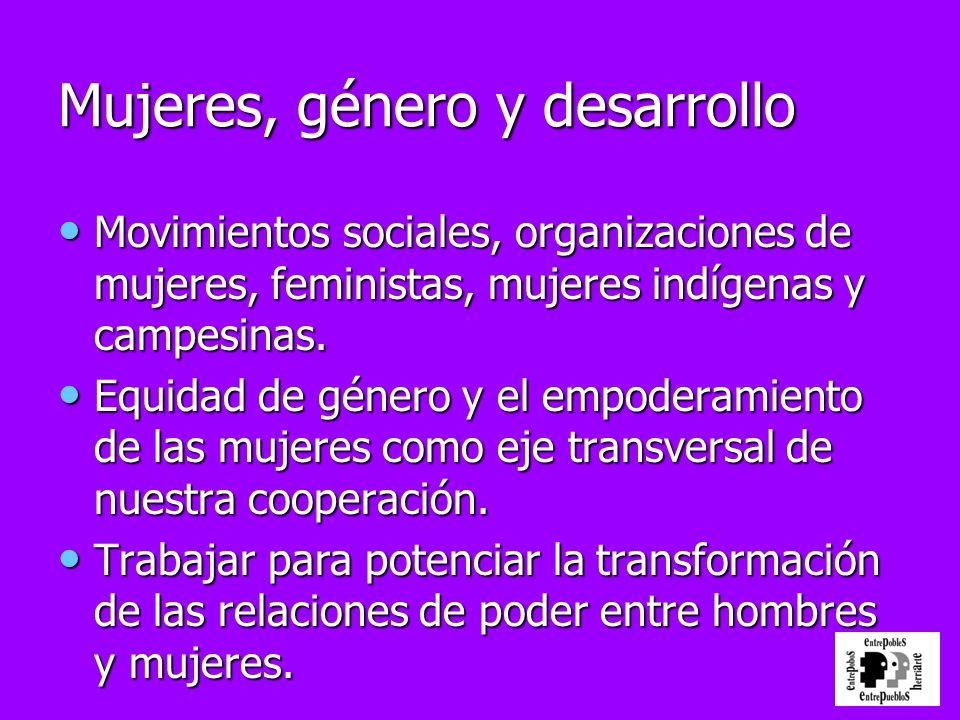 Mujeres, género y desarrollo
