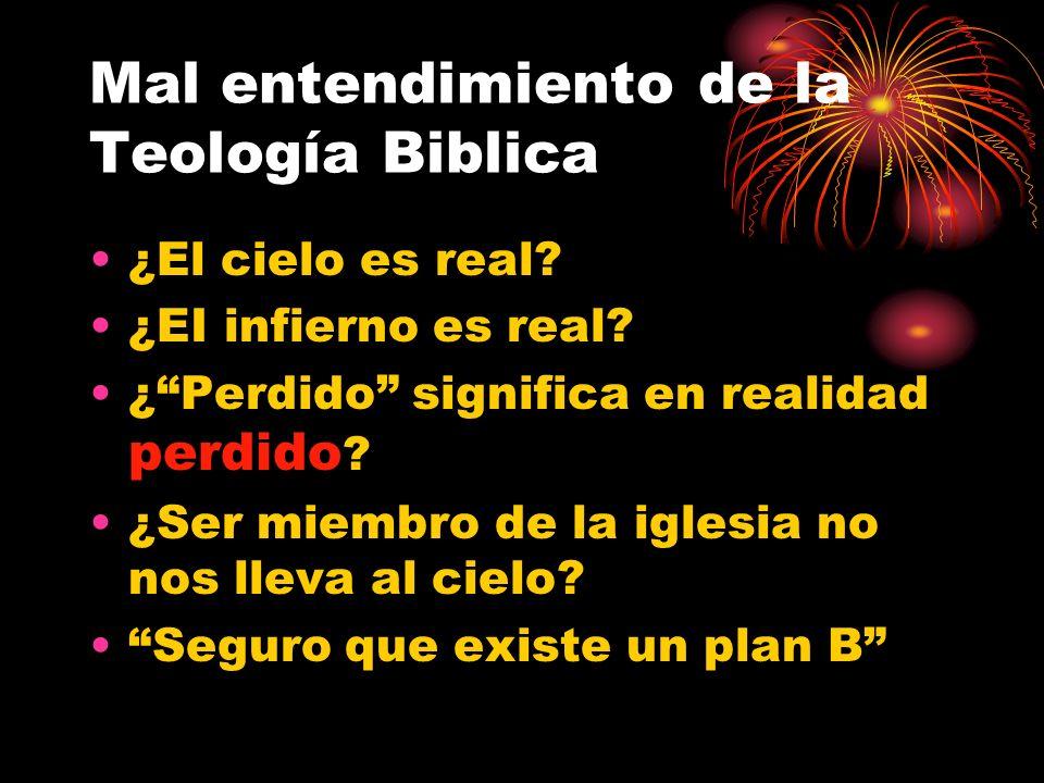 Mal entendimiento de la Teología Biblica