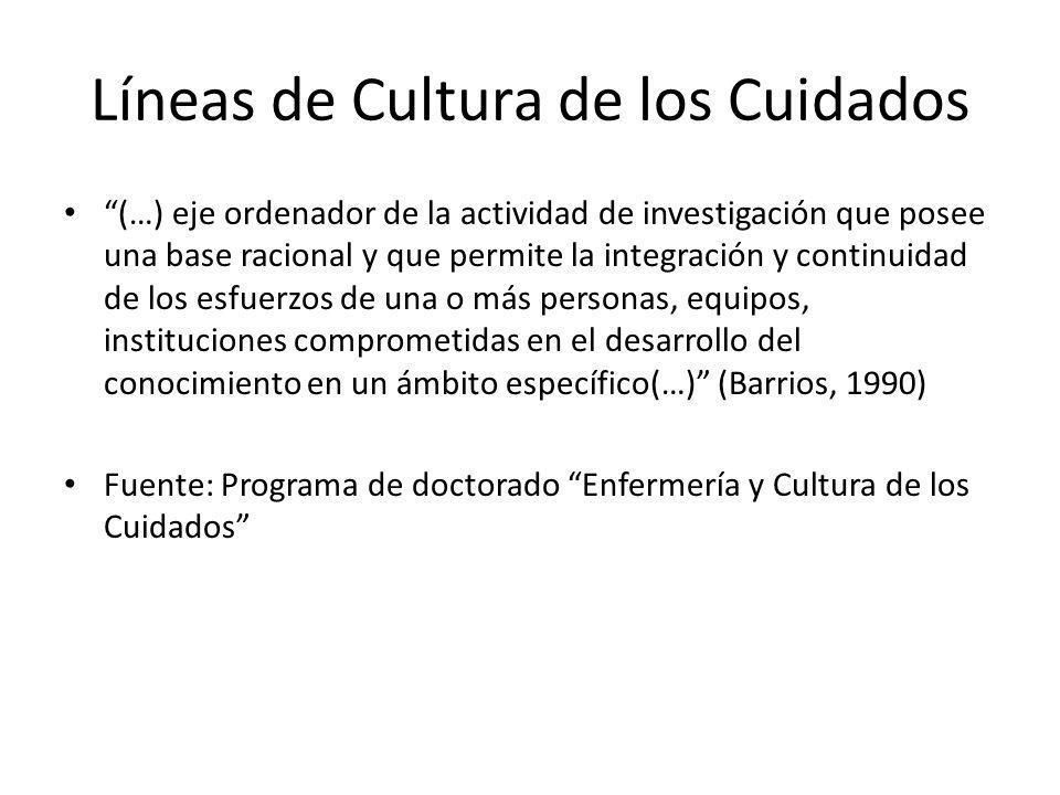Líneas de Cultura de los Cuidados