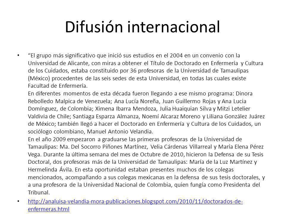 Difusión internacional