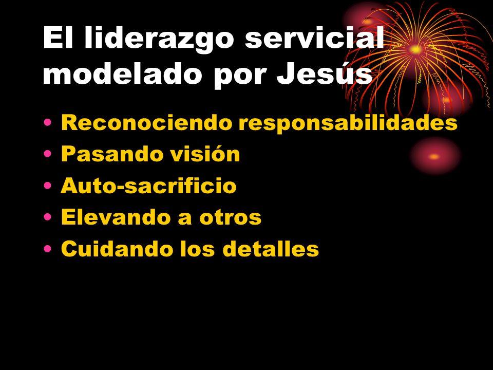 El liderazgo servicial modelado por Jesús