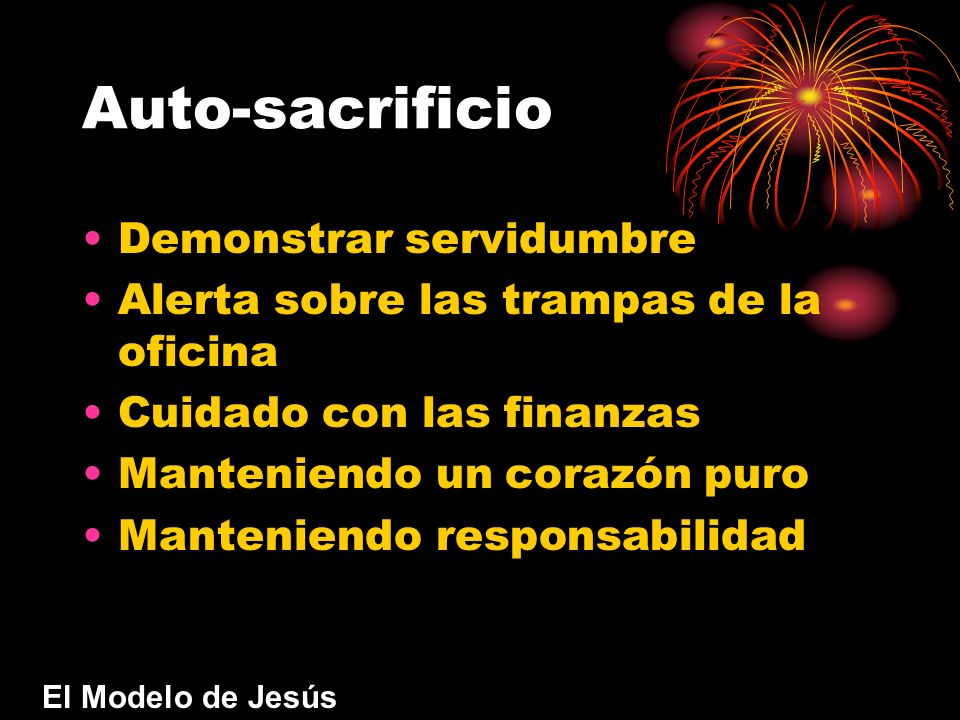 Auto-sacrificio Demonstrar servidumbre